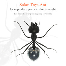 New Arrival Magic Solar Powered Ant Insect Solar Toys for Children Kids Toys Cute Solar Ant Black(China (Mainland))