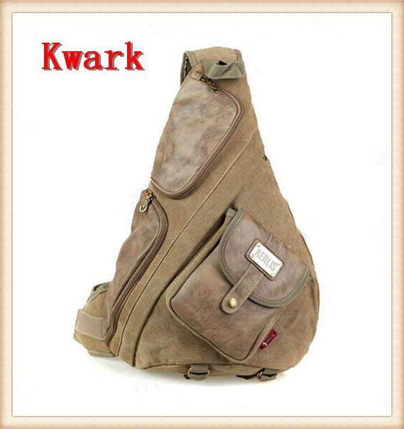 2015 Aerlis Big canvas chest pack vintage messenger bag man outdoors bags male Cell phone pocket shoulder Traveling bakpack - Kwark International Trade Co. , ltd store