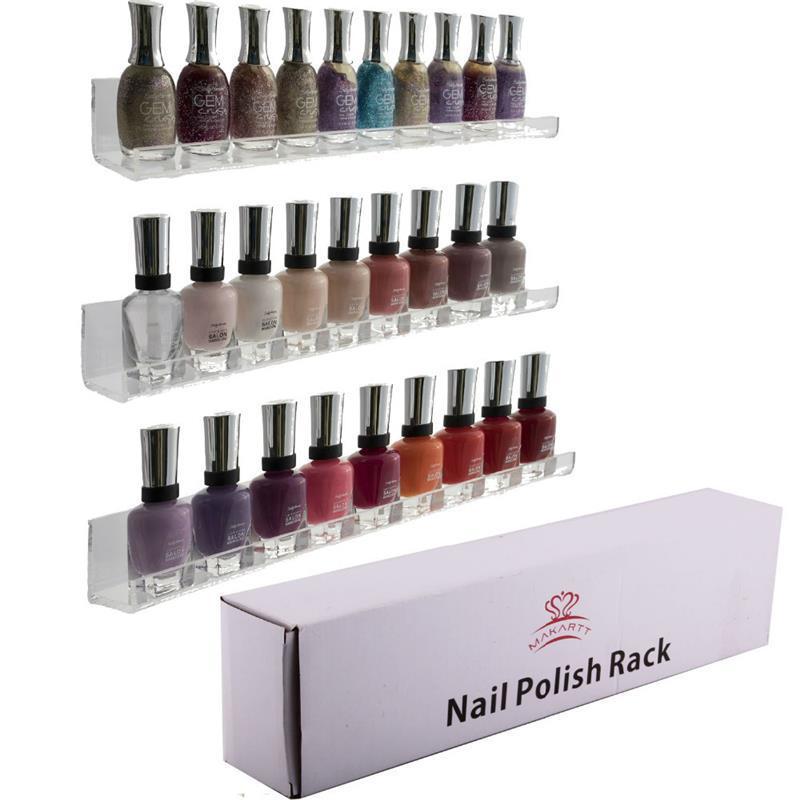 10 sets pretty display invisible acrylic nail polish rack. Black Bedroom Furniture Sets. Home Design Ideas