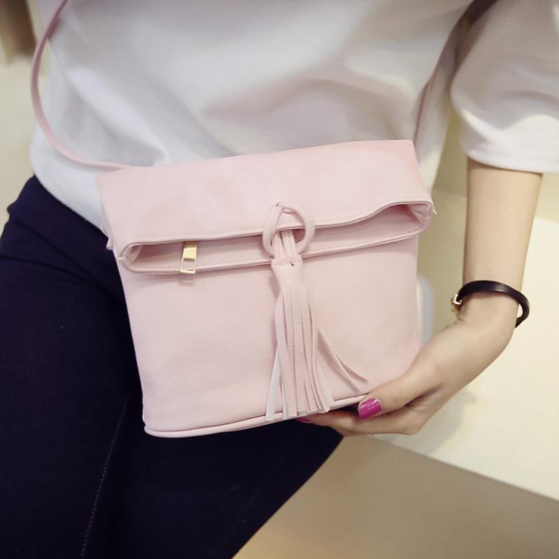 New simple fashion bag stylish small tassel handbag women 4 classic colors casual Shoulder Bags ladies nice Messenger Bags hot(China (Mainland))
