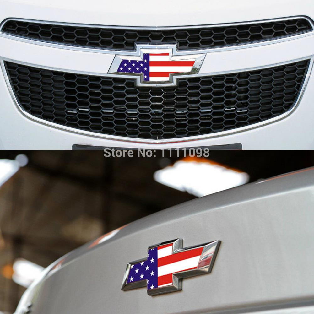 20 X Car Glue Sticker Decoration Decal American Flag Front Rear Sticker For Chevrolet Cruze