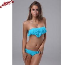 Tassel bikinis font b bra b font font b set b font xl plus size swimwear