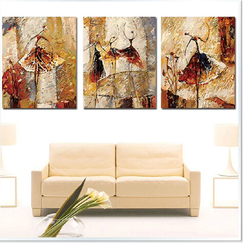 vintage home decor Ballet dancer pictures painting by