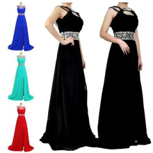 Real Photos Split Prom Dresses Fitted 2016 Black Royal Blue Red Beaded Chiffon Party Cocktail Dresses In Stock Real Image
