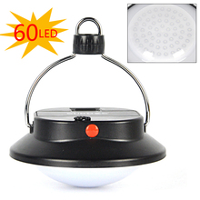 60 LED Portable Outdoor Indoor Camping Lantern Tent Light Campsite Hanging Lamp 1x18650/3xAAA Battery operated(China (Mainland))