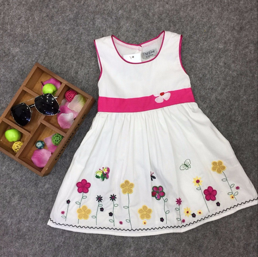 2016 New Childrens girls Waistband embroidered dress brand Dresses wholesale<br><br>Aliexpress