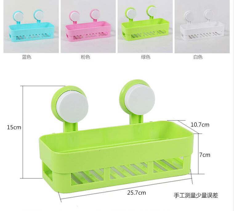 Image result for Detachable Plastic Bathroom Wall Sucker Suction Cups Storage Shelves Rack