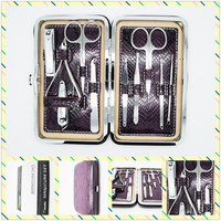 2015 New style Factory Direct Selling Professional 10in1 Beauty Pedicure Manicure Set Grooming Kit Case Freeshipping
