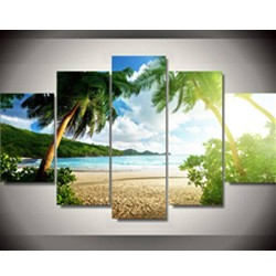 3 Piece Wall Art Seascape Blue Ocean Sunset Sea Canvas painting Pictures On The Wall Picture Art HD stone decoration poster