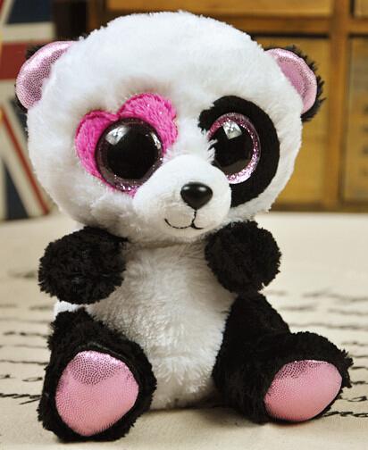 TY big eyes plush toys soft doll 15cm stuffed pig animal doll for baby gift