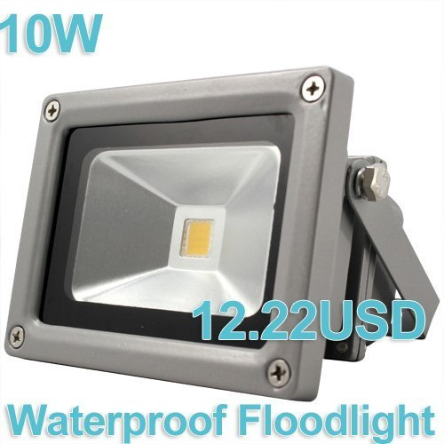 Waterproof 10W 85-265V High Power Warm White/Cool White LED Floodlight Free shipping