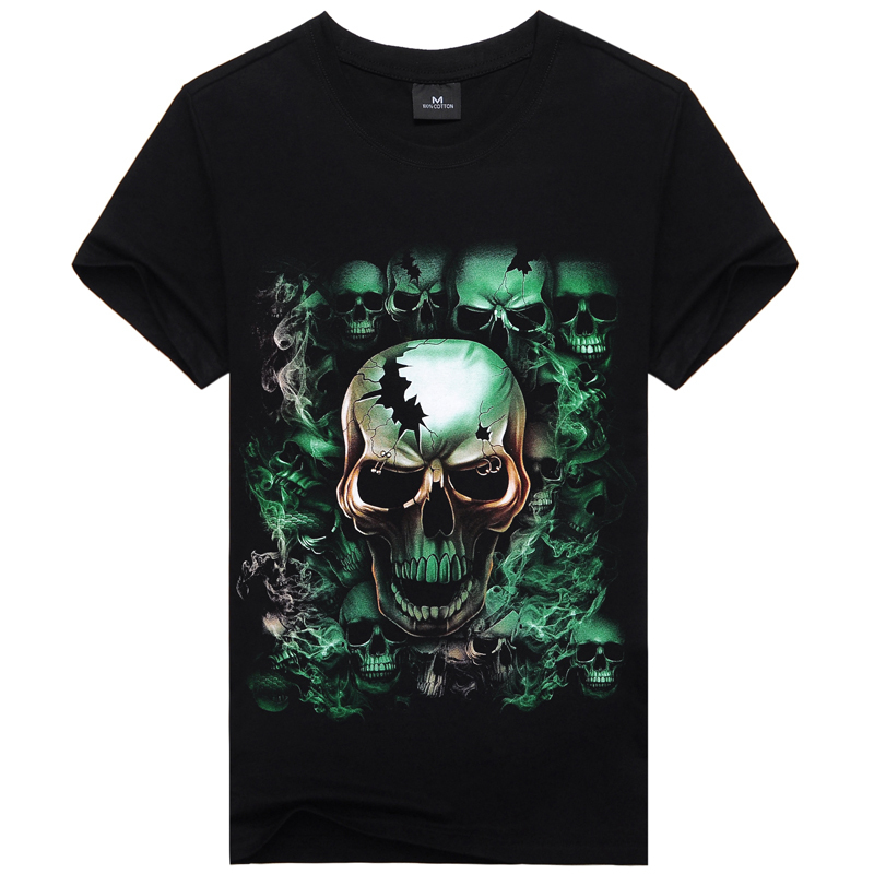 New Arrival 2015 Summer Men t shirt Creative 3d Printed Element T Men With Skull T Shirt Men's Causul Hip Hop Tees(China (Mainland))