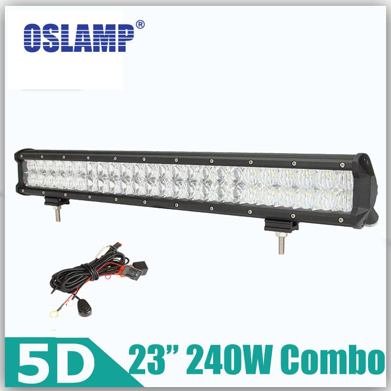 d lente oslamp w pulgadas llev la barra ligera x offroad combo barra de