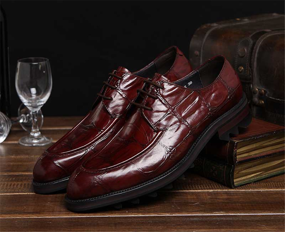 Luxurious Coffee /black mens dress shoes genuine leather mens oxfords shoes 2016 new mens business shoes fashion wedding shoes(China (Mainland))