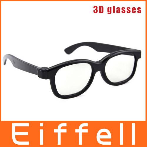 Eiffell Plastic linear polarized 3D Glasses 50pcs/lot Free shipping GPL002L(China (Mainland))