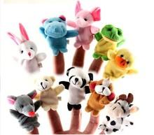 5000Pcs/Lot Cartoon Biological Animal Finger Puppet Plush Toys Child Baby Favor Dolls 1503063(China (Mainland))