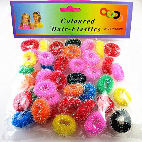 40pcs/lot elastic headbands Children colorful small circle of gold hair band knotless circle plain plastic headbands(China (Mainland))