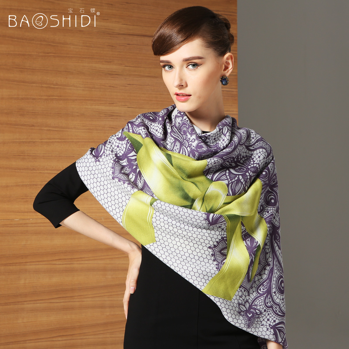 Paris fashion 100% Wool scarves female spring and autumn dual shawl scarves perfect gift birthday(China (Mainland))