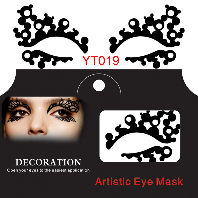 Fashion eye stickers new hollow artistic face eye mask  lace eyelashes eyes make up items party essential product 10 pairs/lot<br><br>Aliexpress