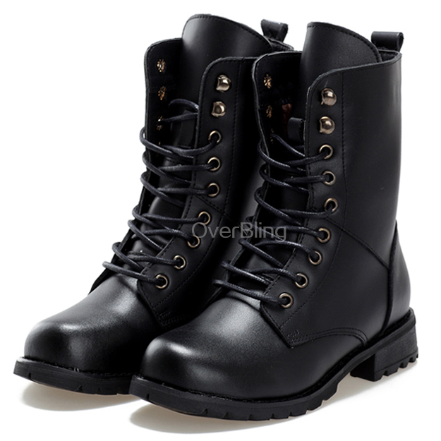 British Style Classic Women Boots Womens Motorcycle Martin Boot Punk Bandage Ankle Waterproof Hiking Shoes Winter Boots