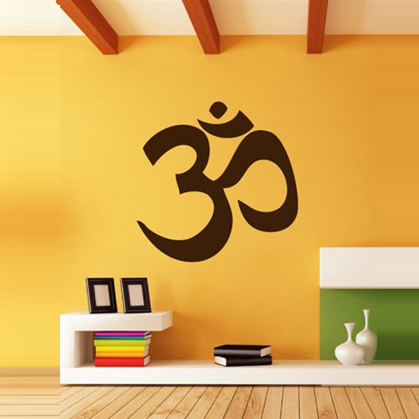 Yoga om yoga decoration wall stickers,Bedroom Murals Wallpaper Wall Say Quote Word Lettering Art Vinyl Decal Home Decor Words(China (Mainland))