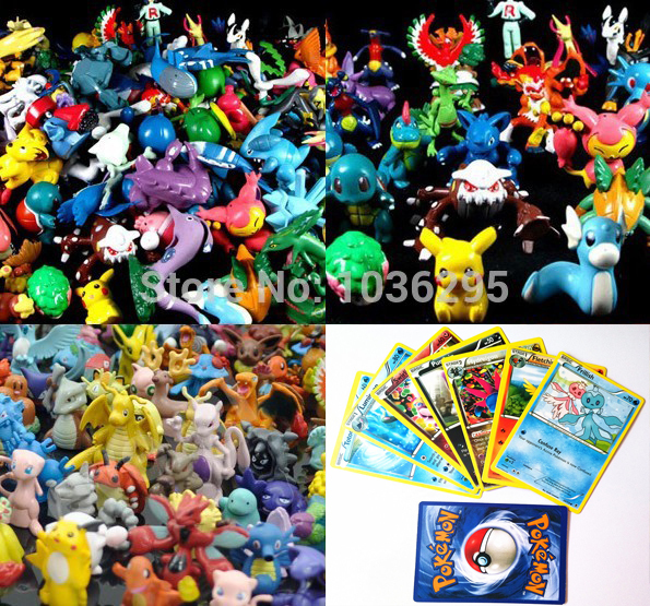 2015 NEW Hot 25pcs+24pcs/set English Pokemon Cards + Action Figures Trading Cards for children Of Classic toys Christmas gift(China (Mainland))