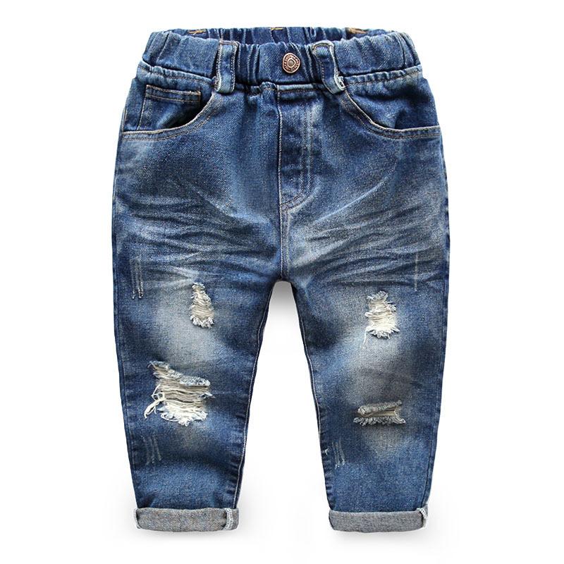 (GOOD) Kids Jeans Pants Boys Casual Boy Jeans Trousers Brand 2016 Children Pants boy Child Ripped Jean Boy Fashion Pant Garcon(China (Mainland))