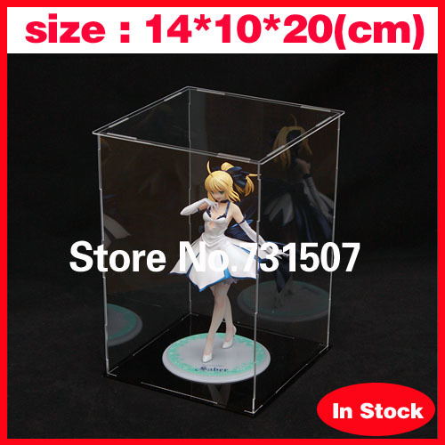 Wholesale 14*10*20cm Japanese Anime Toys Hand-done Acrylic Model Display Cabinet Model Display Box(Does not contain model)(China (Mainland))