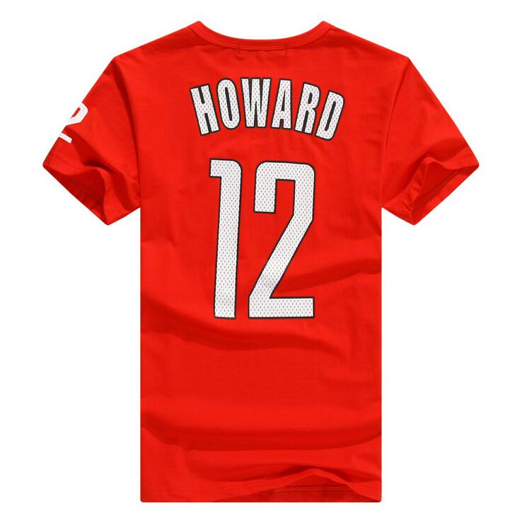 New Men Sports Clothes Summer Casual basketball jerseys Short Sleeve Dwight Howard Jersey 100% Cotton t shirt camisa masculina(China (Mainland))