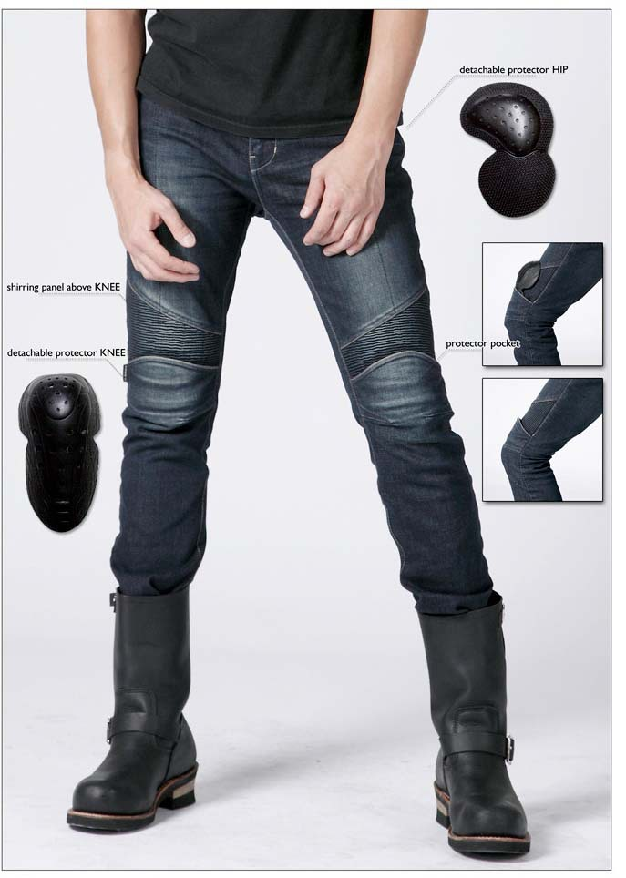 Фотография Neri uglyBROS slub - 2 K kevlar fire prevention cloth Cowboys ride jeans Motorcycle jeans