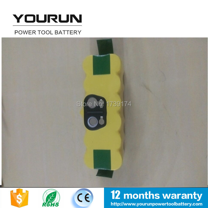 Rechargeable Battery Packs for iRobot roomba 14.4v 3500mah ni-mh Roomba 500 610 700 Series 80501 530 510 780 770 760(China (Mainland))