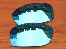 Ice Blue Mirror Polarized Replacement Lenses For Pit Bull Sunglasses Frame 100% UVA & UVB Protection