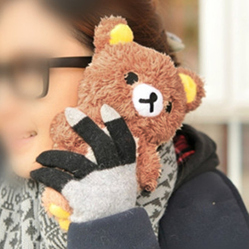 Brand New Fashion 3D Cute Teddy Bear Plush Doll Toy Cover Case For Apple iphone 4 4S 5 5s 5C(China (Mainland))