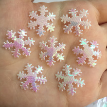 100pcs 20mm ABsnowflake Appliques Wedding /Christmas decoration /craft DIY A048(China (Mainland))