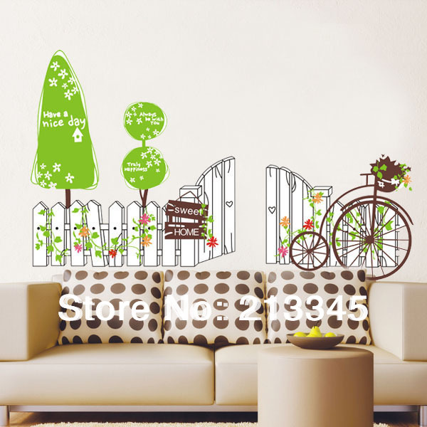 Simple green wallpaper reviews online shopping simple for Sticker mural couloir