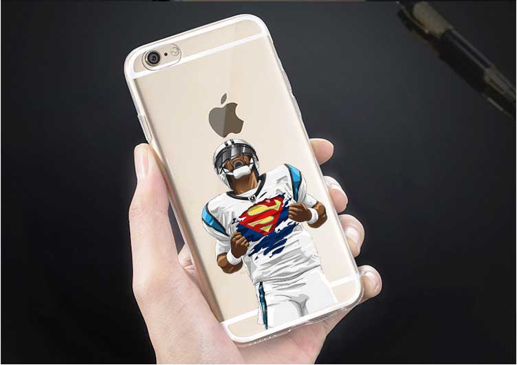 Football Odell beckham jr Watt Gronk Carolina Panthers Cam Newton Superman Dab Dance For iphone 4S 5 5S 5C SE 6 6S 6Plus 7 7Plus(China (Mainland))