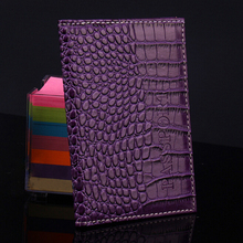 New Arrival Alligator Embossing Passport Holder Protector Fashion Passport Cover PU Leather Wallet