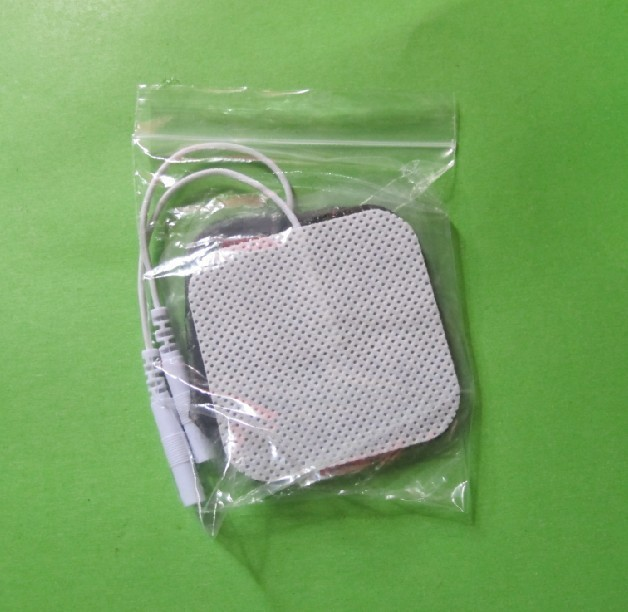50pcs/lot 5*5cm Square Self Adhesive TENS Electrode Pads For TENS EMS machine/TENS UNIT/Therapy machine muscle stimulator(China (Mainland))