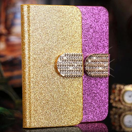 Luxury Bling Leather Wallet Flip case for Sony Xperia Go ST27I cell phone leather cases back cover with stander Free shipping(China (Mainland))