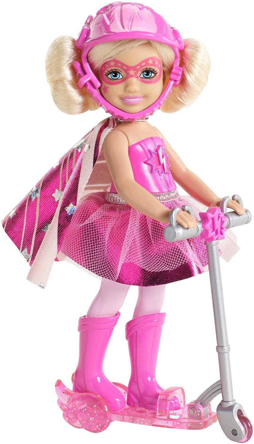 Original FOR Barbie in Princess Power Chelsea and Scooter Doll, Blue and Pink Children's gift Christmas