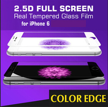 for iPhone 6 6S Plus FULL COVER 0.3mm 2.5D Tempered Glass Screen Protector Protective Film anti scratch 9H hardness