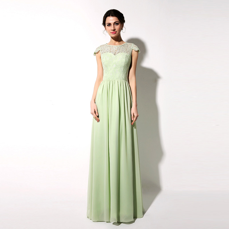 aliexpresscom buy sage chiffon dress long bridesmaid With sage wedding dress