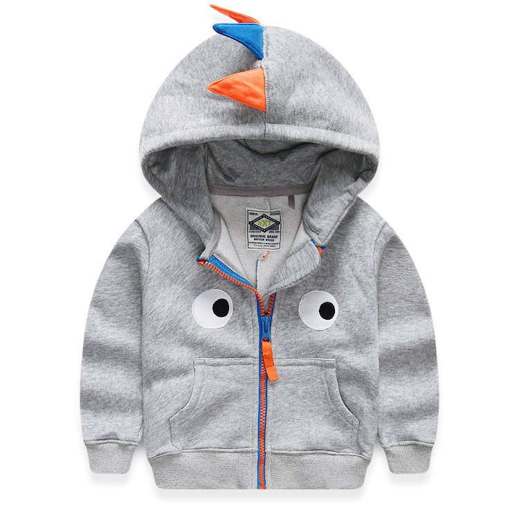 Children's Sweatshirts For Boys 2015 Spring Autumn Thick Baby Boys Dinosaur Hoodie 2-10 Years Kids Jacket Coat Boys Fall Clothes(China (Mainland))
