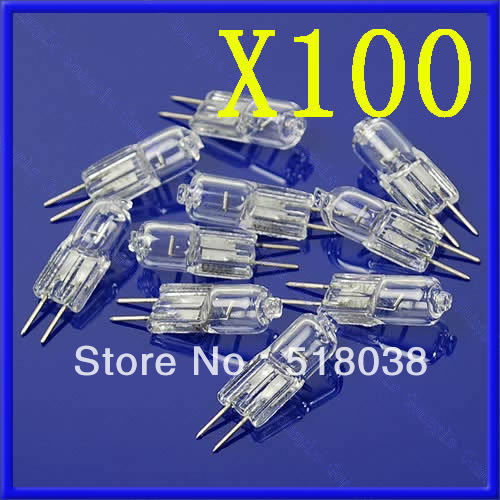 B39Free Shipping 100X 20W 20 Watt G4 12V Halogen Light Bulb Base JC Type(China (Mainland))