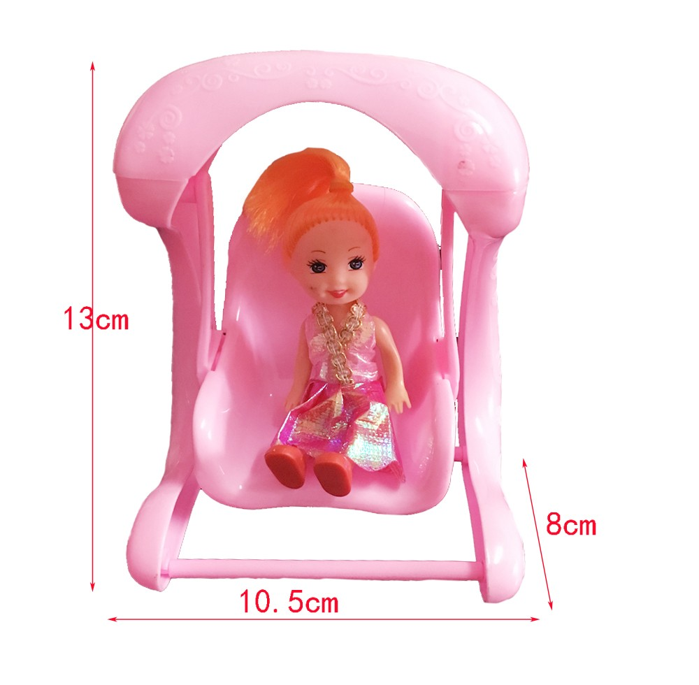 Child's play home toys Doll Equipment Handmade Doll's Plastic Swing chairs For Barbie Dolls/Kali dolls