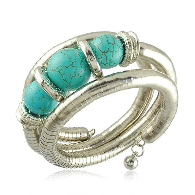 Beads Bracelet New Arrival Turquoise Beads Bracelet VintageJewelry (Mix Minimum order is 10USD)