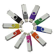2016 горячая распродажа самая низкая цена нормальный прямоугольник USB 2.0 вращения полный емкость флэш-накопителя USB 64 ГБ