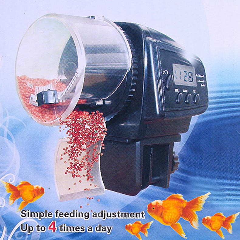 Hot Sale Digital LCD Automatic Aquarium Tank Auto Fish Feeder Timer Food Feeding 88(China (Mainland))