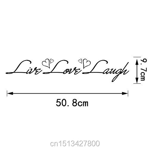 Free shipping: Live Laugh Love Quote Wall Decals Vinyl Stickers Home Decor Art Sticker Living Room Decor Vinyl Wall Stickers