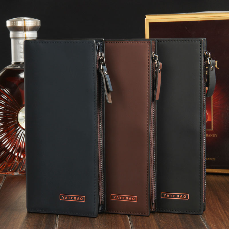 NEW Brand Luxury Men Genuine Leather Purse Long Casual Male Card Holder Carteira Brand Wallet 3